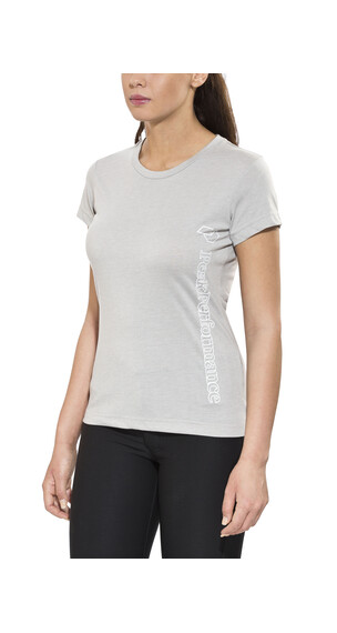 Peak Performance Track Tee Shirt Women Med Grey Mel